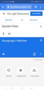 Google Translate Fehler